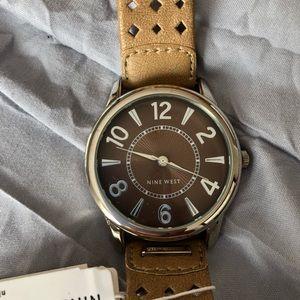 Nine West Leather Watch